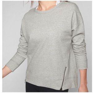 Athleta Cityscape Sweatshirt Side Zip Accents Sz M